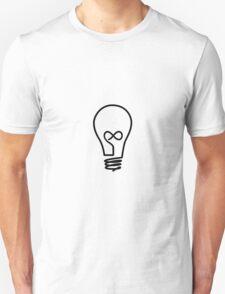 Infinity Lightbulb Unisex T-Shirt