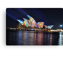 Luna Park on Opera House, Sydney, Australia 2013 Canvas Print
