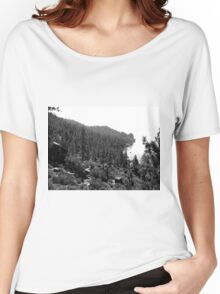 Black And White Landscape 17  Women's Relaxed Fit T-Shirt
