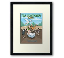 Tour Because Awesome 2015 Framed Print