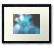 neonflash abstract art blue line Framed Print