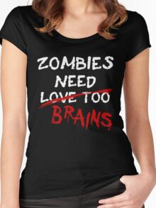 Zombies Need... Women's Fitted Scoop T-Shirt