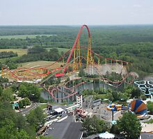 Volcano: The Blast Coaster, Kings Dominion by coasterfan94