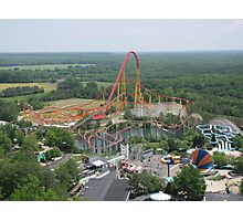 Volcano: The Blast Coaster, Kings Dominion Photographic Print