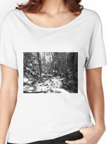 Black And White Landscape 23  Women's Relaxed Fit T-Shirt