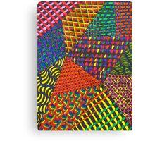 Abstract Geometric Rainbow Zentangle Canvas Print