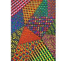 Abstract Geometric Rainbow Zentangle Photographic Print