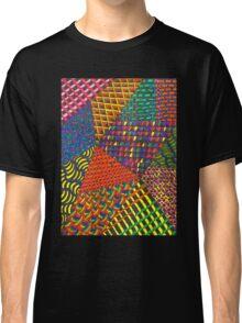 Abstract Geometric Rainbow Zentangle Classic T-Shirt