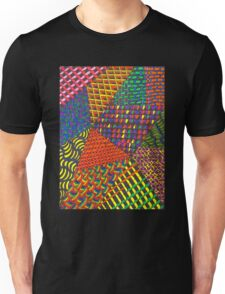Abstract Geometric Rainbow Zentangle Unisex T-Shirt
