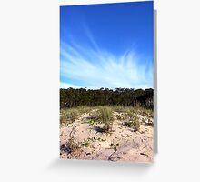 Willinga lake sand dune Greeting Card