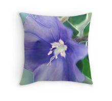 Mauve Wildflower Throw Pillow