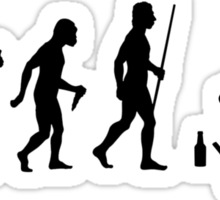 Evolution of Man Weed and Alcohol Sticker
