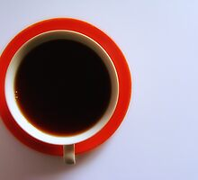 Black Coffee - Orange Plate by RobertCharles