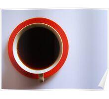 Black Coffee - Orange Plate Poster