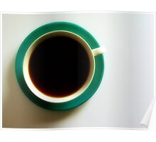 Black Coffee - Green Plate Poster