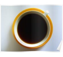 Black Coffee - Yellow Plate Poster
