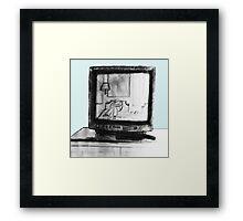 Hotel TV Reflection Framed Print