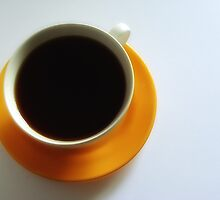 Black Coffee - Yellow Plate II by RobertCharles
