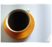 Black Coffee - Yellow Plate II Poster