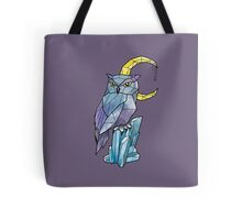 Geometric Watercolour Owl Tote Bag