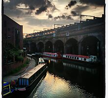 Canal Boats, Manchester by Belinda Leopold