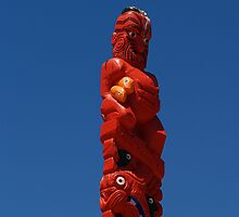 Maori Carved Totem by brians101