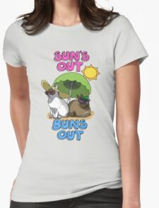 Sun's Out Buns Out Womens Fitted T-Shirt