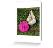 An Indian tea picker's equipment Greeting Card