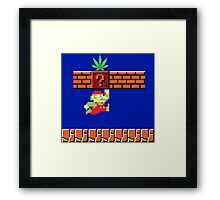 8-bit Retro Mario & Marijuana Framed Print
