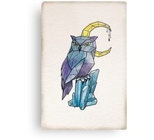 Geometric Watercolour Owl Metal Print
