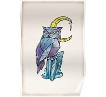 Geometric Watercolour Owl Poster