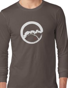 Tree Enso Whte Long Sleeve T-Shirt