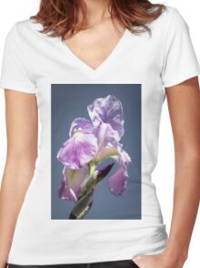 A Sky Full of Iris Women's Fitted V-Neck T-Shirt