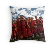Young Monk Group Throw Pillow
