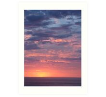 Sunrise over the Great Barrier Reef Art Print