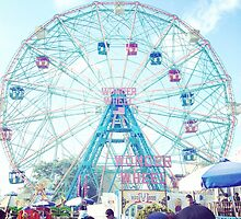 Wonderwheel at Coney Island in Brooklyn, New York City by dearmoon