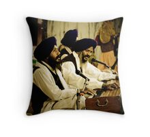 Temple musicians Throw Pillow