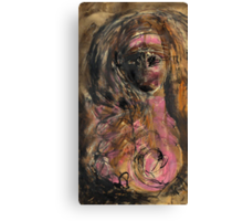 Girl with Headband and Pink Breast Canvas Print
