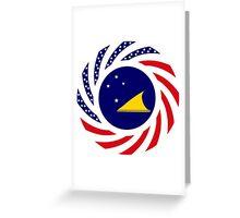 Tokelauan American Multinational Patriot Flag Series Greeting Card
