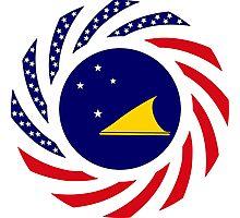 Tokelauan American Multinational Patriot Flag Series Photographic Print