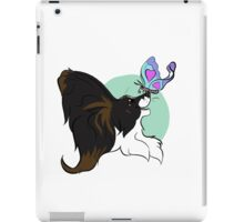 Barking Mad Papillon Pals - Because We're Happy - Wordless iPad Case/Skin