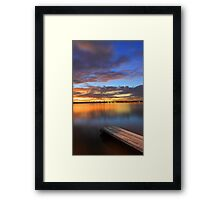 Swan River Jetty At Sunset  Framed Print