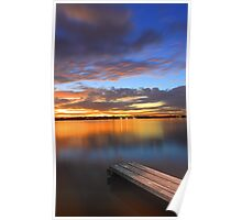 Swan River Jetty At Sunset  Poster