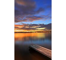 Swan River Jetty At Sunset  Photographic Print