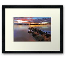 Swan River Sunset  Framed Print