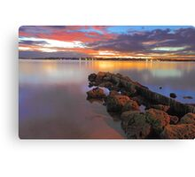 Swan River Sunset  Canvas Print