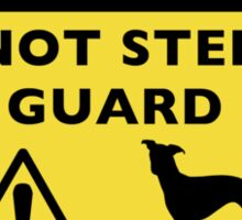 Humorous Italian Greyhound Guard Dog Warning Sticker