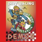 Dirt Racing Demon T-Shirt by Wizard