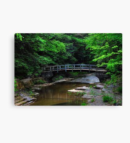 Park Bridge HDR Canvas Print