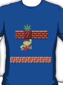 8-bit Retro Mario & Marijuana T-Shirt